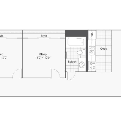 Floor Plan 25 | Apartments In Denver Colorado | Renew on Stout