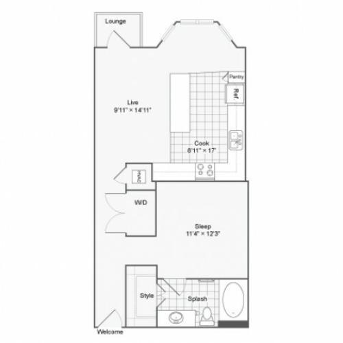 Floor Plan | Arrive River Oaks Apartment Homes for Rent in Houston TX 77098