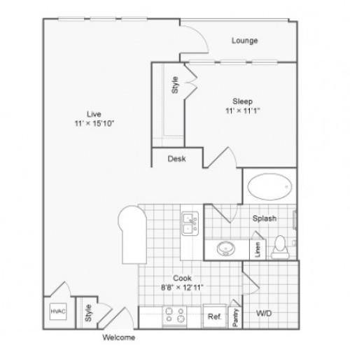 Floor Plan | Arrive River Oaks Apartment Homes for Rent in Houston TX 77098