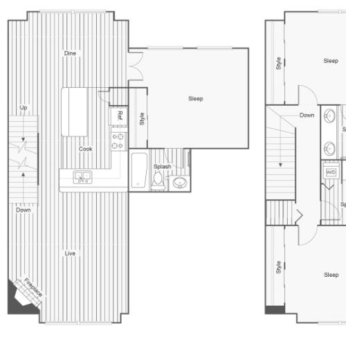 3 Bedroom Floor Plan | Apartments In North Bend Washington | Arrive North Bend