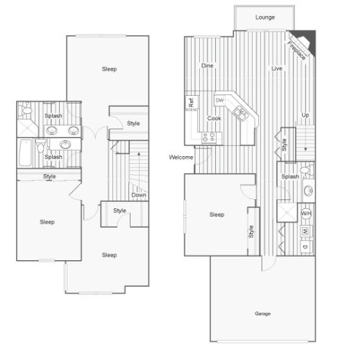 4 Bedroom Floor Plan | North Bend Wa Apartments | Arrive North Bend