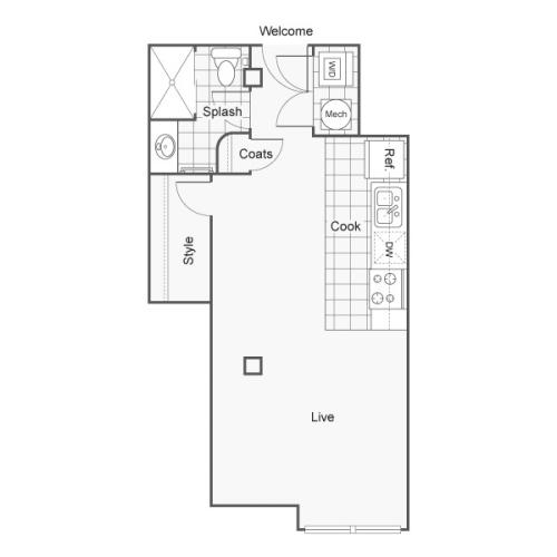 Floor Plan 5 | Apartments Downtown Wichita KS | ReNew Wichita