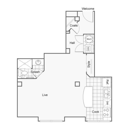 Floor Plan 9 | Luxury Apartments Wichita KS | ReNew Wichita