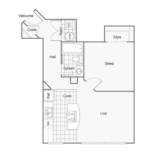 Floor Plan 11 | Apartments In Wichita KS | ReNew Wichita