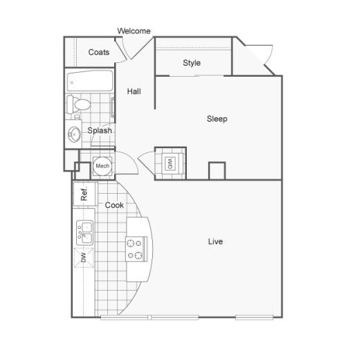 Floor Plan 12 | Studio Apartments Downtown Wichita KS | ReNew Wichita