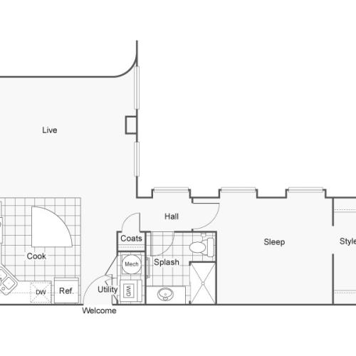 Floor Plan 13 | Wichita Kansas Apartments | ReNew Wichita