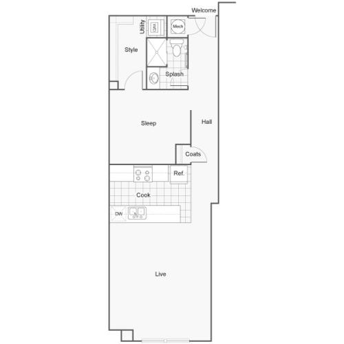 Floor Plan 14 | Luxury Apartments Wichita KS | ReNew Wichita