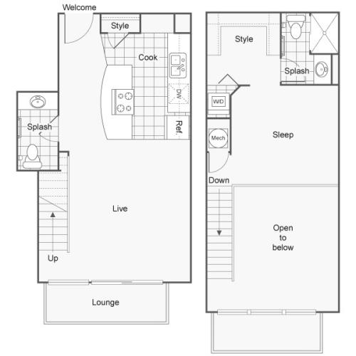 Floor Plan 22 | Studio Apartments Downtown Wichita KS | ReNew Wichita