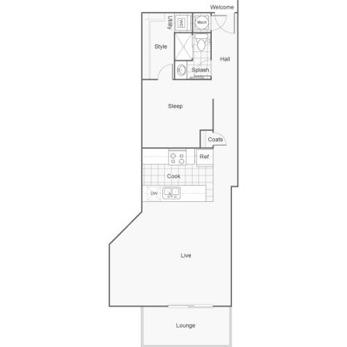 Floor Plan 25 | Apartments Downtown Wichita KS | ReNew Wichita