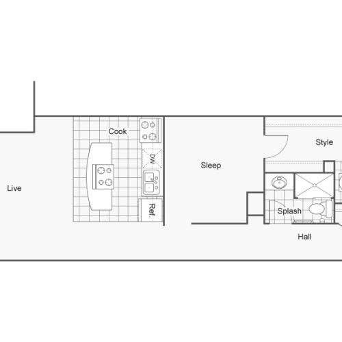 Floor Plan 31 | Apartments In Wichita KS | ReNew Wichita