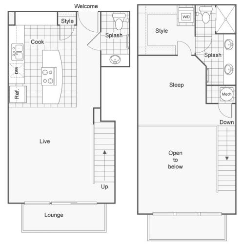 Floor Plan 32 | Studio Apartments Downtown Wichita KS | ReNew Wichita