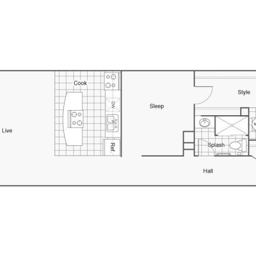 Floor Plan 34 | Luxury Apartments Wichita KS | ReNew Wichita