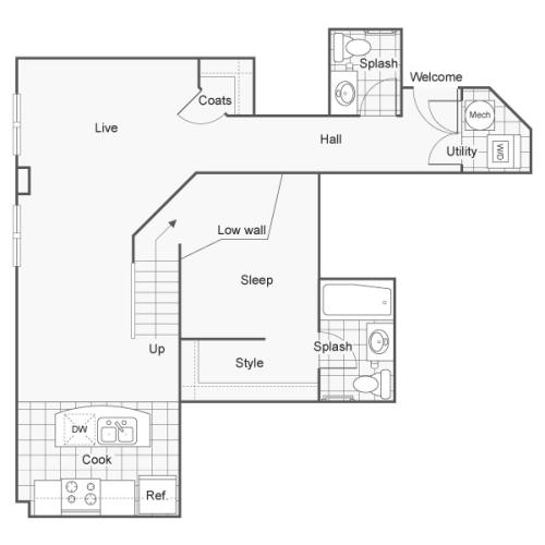 Floor Plan 35 | Apartments Downtown Wichita KS | ReNew Wichita