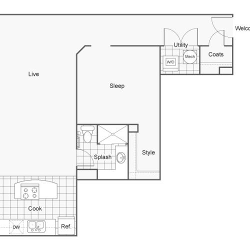 Floor Plan 36 | Apartments In Wichita KS | ReNew Wichita