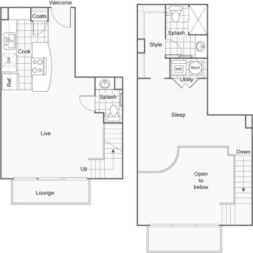 Floor Plan | ReNew Wichita Apartment Homes for Rent in Wichita KS 67202