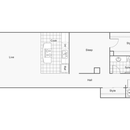 Floor Plan 40 | Apartments Downtown Wichita KS | ReNew Wichita