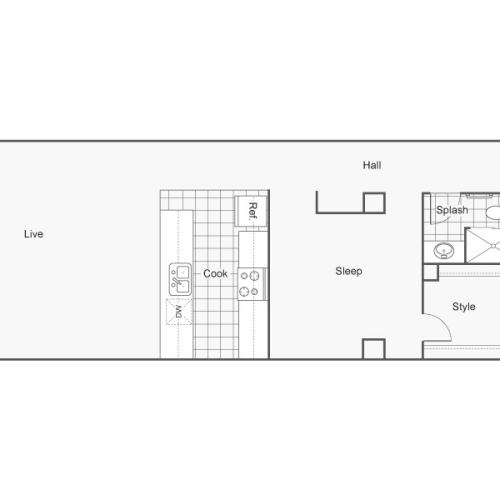 Floor Plan 41 | Apartments In Wichita KS | ReNew Wichita