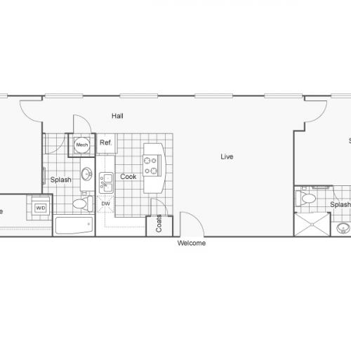 Floor Plan 45 | Apartments Downtown Wichita KS | ReNew Wichita