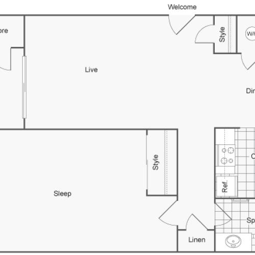Floor Plan | ReNew Creve Coeur Apartment Homes for Rent in Creve Coeur MO 63141