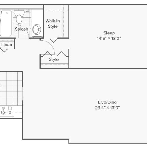 Floor Plan 3 | Apartments Wheaton IL | ReNew Wheaton Center