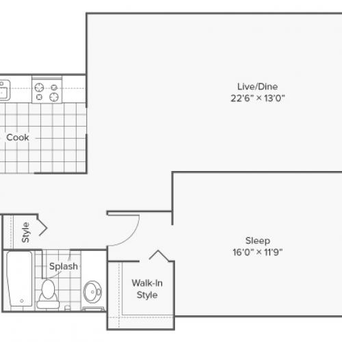 Floor Plan 4 | Wheaton IL Apartments | ReNew Wheaton Center