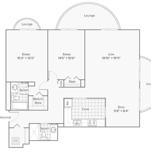 Floor Plan 10 | Apartments Near Wheaton IL | ReNew Wheaton Center