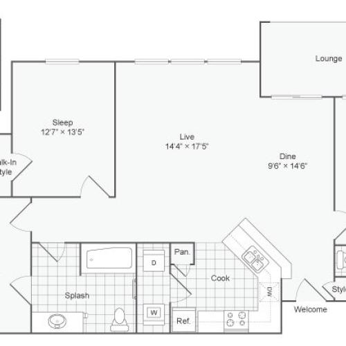 Floor Plan | ReNew at TPC Apartment Homes for Rent in San Antonio TX 78261