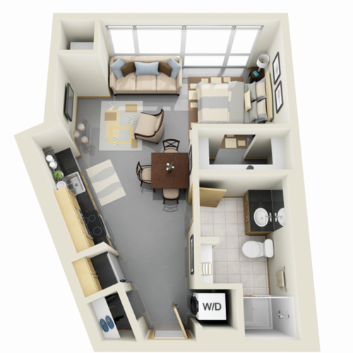 Floor Plan 1 | Luxury Apartments Minneapolis MN | Solhaus Apartments