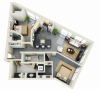 Floor Plan 16 | Luxury Apartments Minneapolis MN | Solhaus Apartments