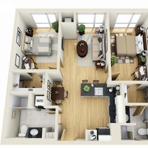 Floor Plan 20 | Minneapolis Apartments Near University Of Minnesota | Solhaus Apartments