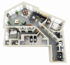 Floor Plan 19 | Minneapolis Apartments For Rent Near University Of Minnesota | Solhaus Apartments