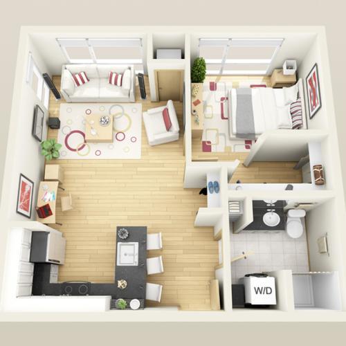 Floor Plan   Minneapolis Apartments Near University Of Minnesota   Solhaus Apartments