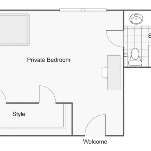 1 Bdrm Floor Plan | CSU Chico Student Housing | The Social Chico