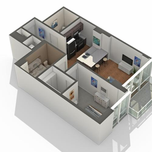 1 Bedroom Floor Plan | Apartments In South Loop Chicago | Arrive LEX