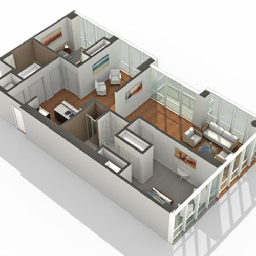 2 Bdrm Floor Plan | Apartments South Loop Chicago | Arrive LEX
