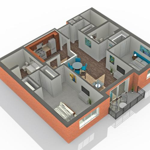 Floor Plan | Apartments Vernon Hills IL | Arrive Town Center
