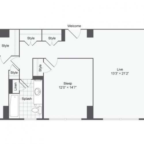 Spacious Floor Plans   Apartments For Rent Near Johns Hopkins University   The Social North Charles