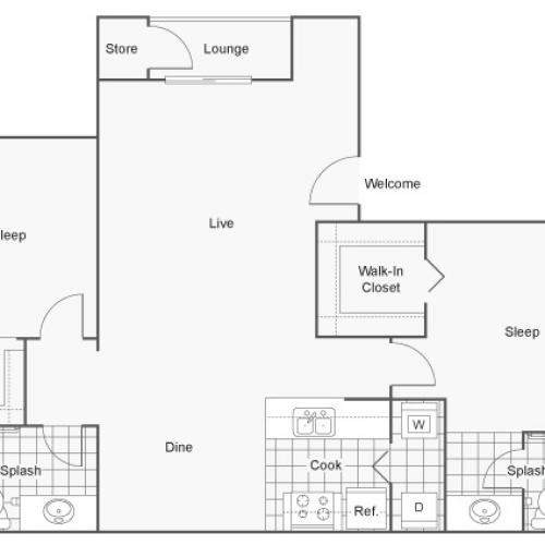 Floor Plan | ReNew at Decatur Apartment Homes for Rent in Las Vegas NV 89102