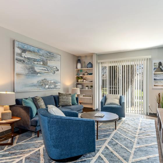 Elegant Living Area | Apartments In Madison WI | ReNew Madison