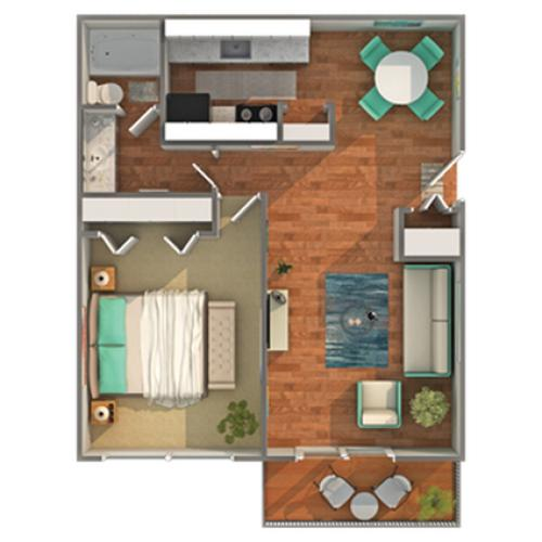 Floor Plan | ReNew Madison Apartment Homes for Rent in Madison WI 53711