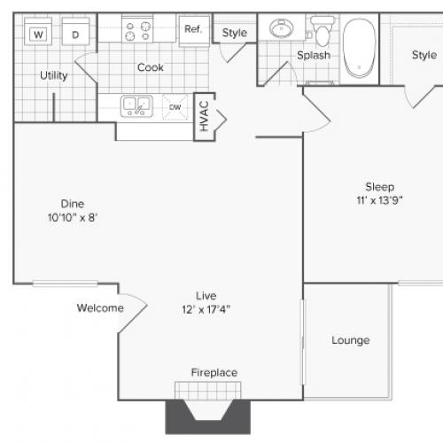 Floor Plans | ReNew North Park Apartment Homes for Rent in Midland TX 79707