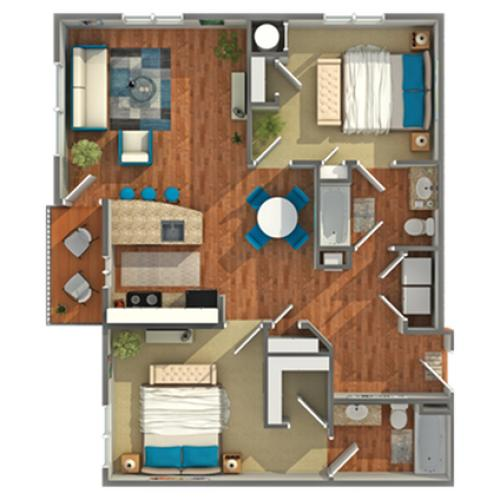 Floor Plan | Apartments In Eagleville PA | Arrive Valley Forge