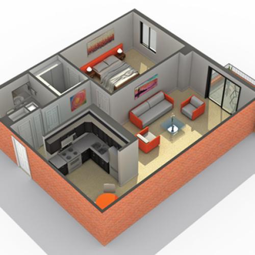 Floor Plan 6 | Apartments in Wheaton IL | ReNew Wheaton Center