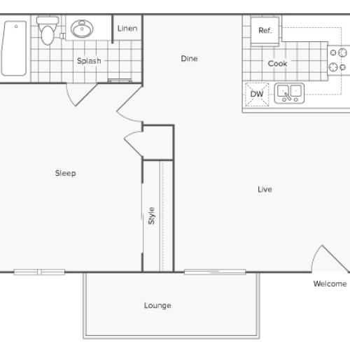 Floor Plan | Renew on 14th Apartment Homes for Rent Riverside CA 92501