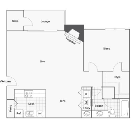 Floor Plan | ReNew Cross Creek Apartment Homes for Rent in St. Louis MO 63125