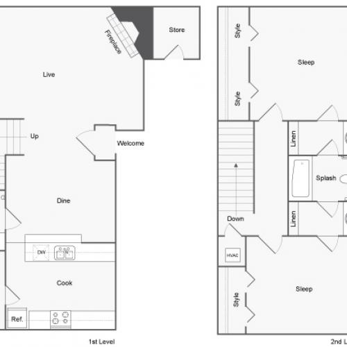 Floor Plans | ReNew Holiday Hill Apartment Homes for Rent in Midland TX 79707