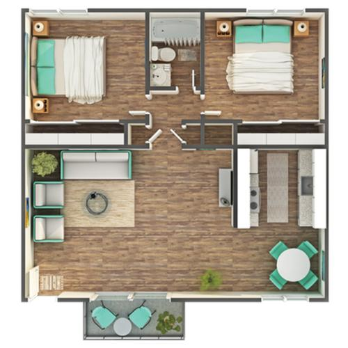Floor Plan Layout | ReNew Park Viva Apartment Homes for Rent in Fairfield CA 94533