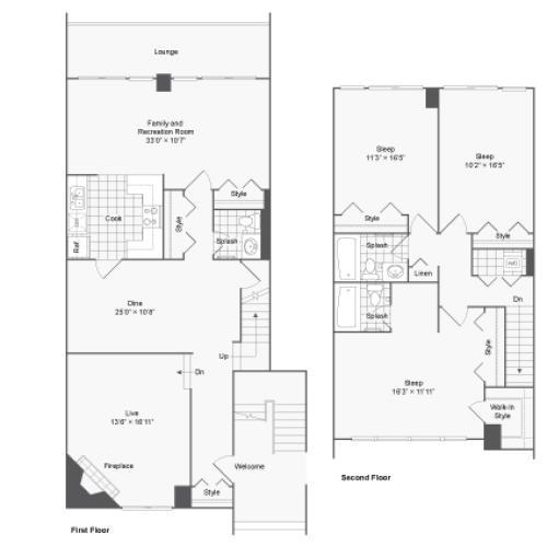 Floor Plan | Arrive 2801 Apartment Homes for Rent in Alexandria VA 22302