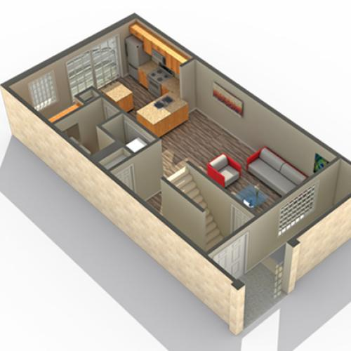 2 Bedroom Floor Plan | Apartments Near Lombard IL | ReNew Downer\'s Grove