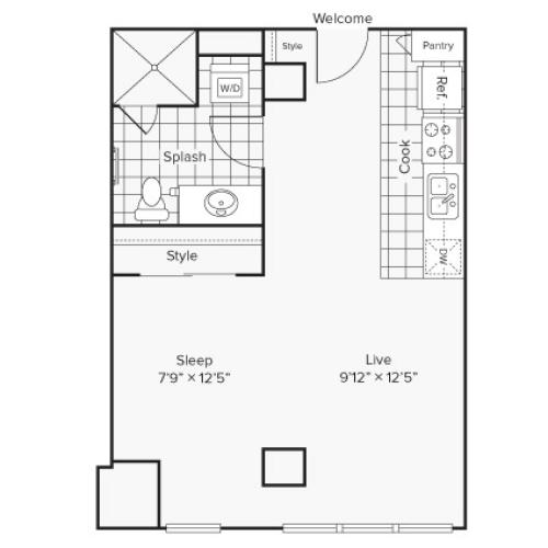 Floor Plan Image at Arrive University City Apartment Homes for Rent in Philadelphia PA 19104